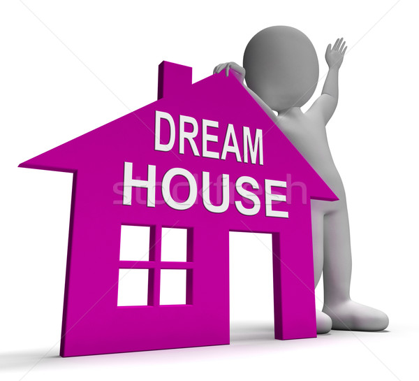 Stock photo: Dream House Home Shows Finding Or Designing Perfect Property