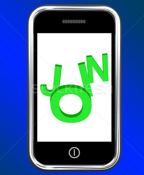 Telefoon lidmaatschap registratie tonen web mobiele Stockfoto © stuartmiles