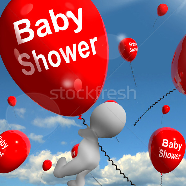 Baby Shower Balloons Shows Cheerful Parties and Festivities Stock photo © stuartmiles