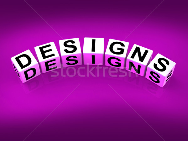 Designs Blocks Mean to Design Create and to Diagram Stock photo © stuartmiles