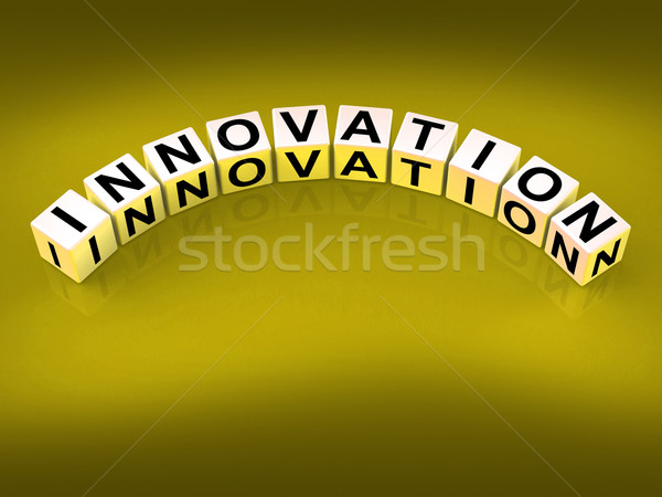 Innovation Dice Mean Improvements And New Developments Stock photo © stuartmiles