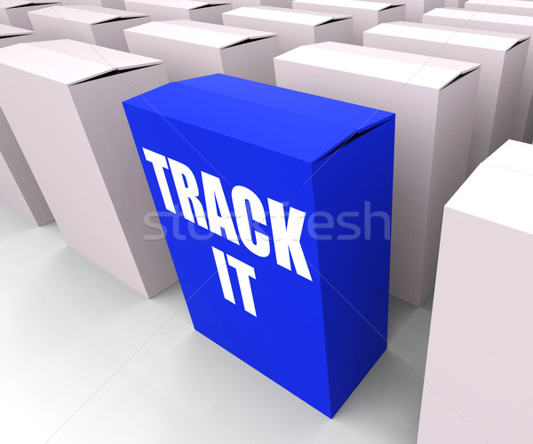 Track It Means to Follow an Identification Number on a Package Stock photo © stuartmiles