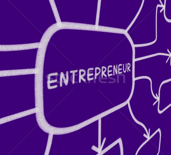 Vállalkozó diagram üzletember startup mutat üzlet Stock fotó © stuartmiles