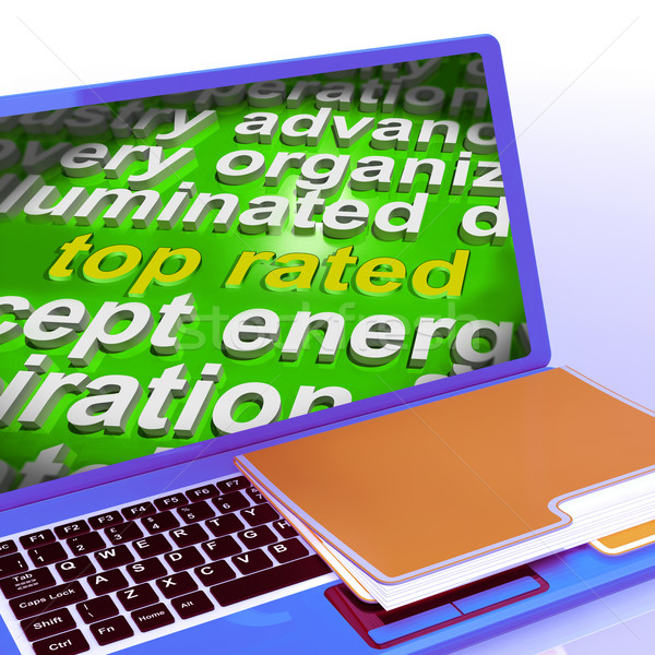 Top Rated Word Cloud Laptop Shows Best Ranked Special Product Stock photo © stuartmiles