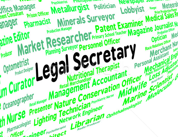 Stock photo: Legal Secretary Represents Clerical Assistant And Pa
