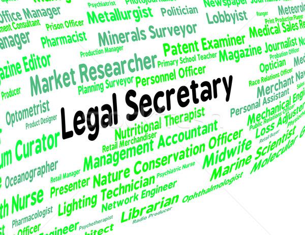 Legal secretário clerical assistente advogado trabalhar Foto stock © stuartmiles