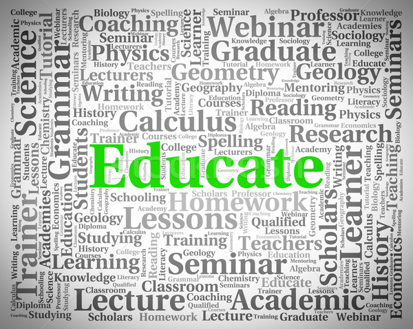 Educate Word Shows Develop Studying And University Stock photo © stuartmiles