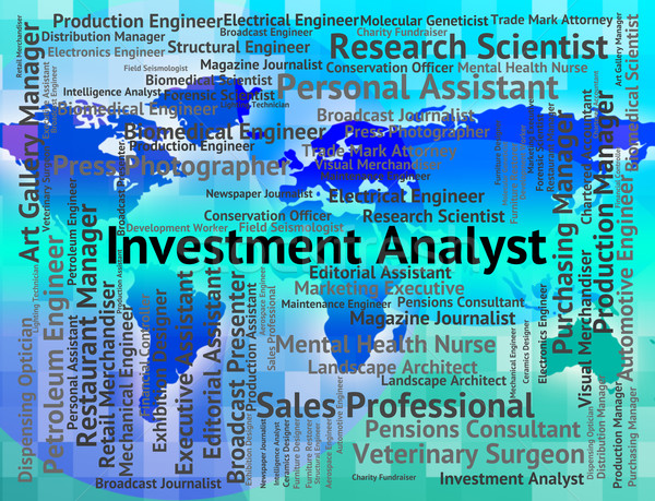 Investment Analyst Represents Career Invested And Occupation Stock photo © stuartmiles