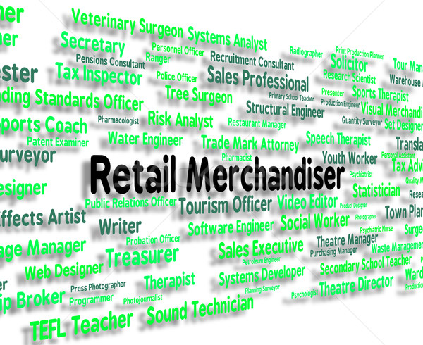 Retail Merchandiser Indicates Occupation Retailer And Commoditie Stock photo © stuartmiles