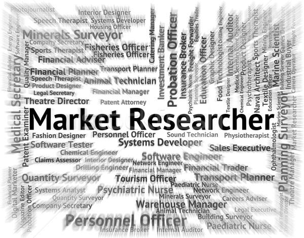 Market Researcher Shows Gathering Data And Examination Stock photo © stuartmiles