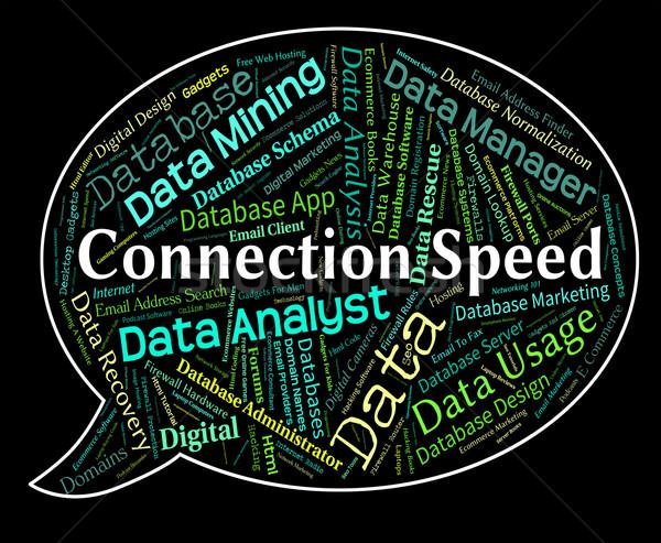Conexión velocidad palabras neto rápido Foto stock © stuartmiles