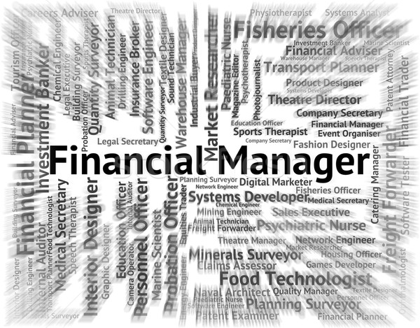 Financial Manager Means Trading Jobs And Boss Stock photo © stuartmiles