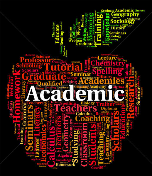 Academic Word Indicates Naval Academy And Academies Stock photo © stuartmiles