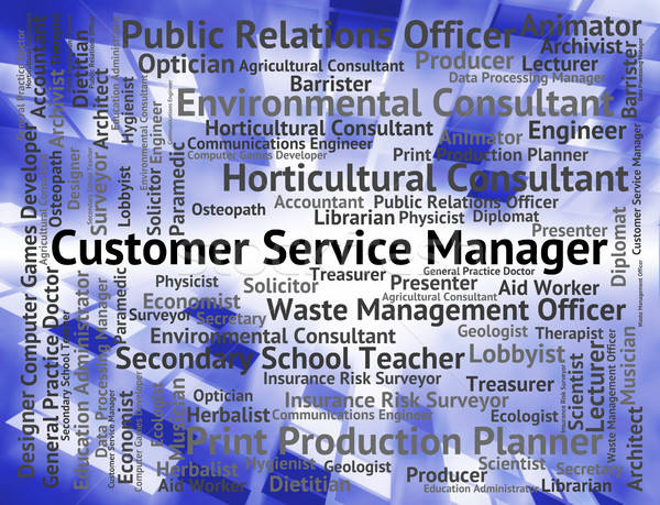 Customer Service Manager Indicates Help Desk And Assistance Stock photo © stuartmiles