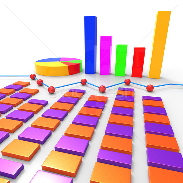 Graph Report Means Finance Data And Information Stock photo © stuartmiles