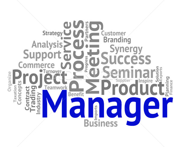 Manager Word Shows Boss Director And Principal Stock photo © stuartmiles