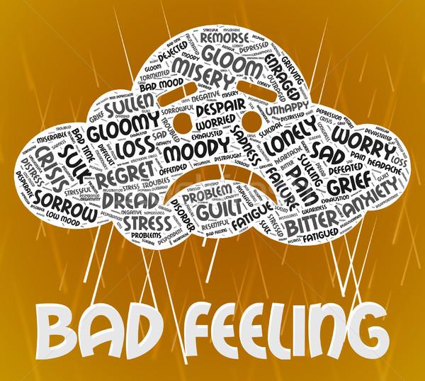 Bad Feeling Indicates Ill Will And Animosity Stock photo © stuartmiles