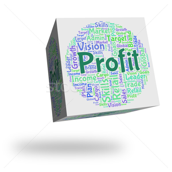 Profit Word Represents Earn Growth And Wordclouds Stock photo © stuartmiles