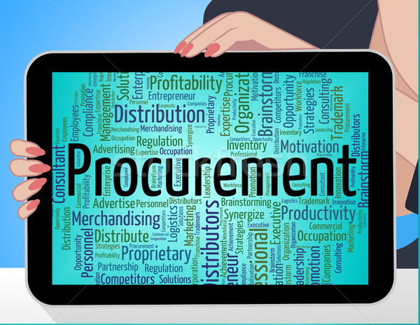 Procurement Word Shows Text Buying And Buyers Stock photo © stuartmiles