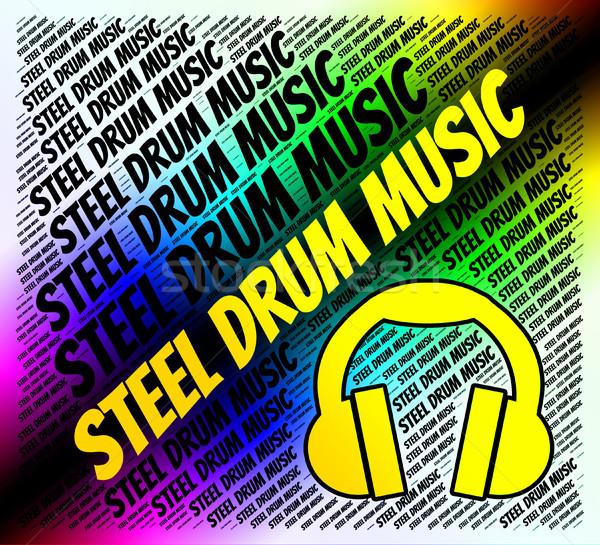 Stali drum muzyki dźwięku utwór audio Zdjęcia stock © stuartmiles