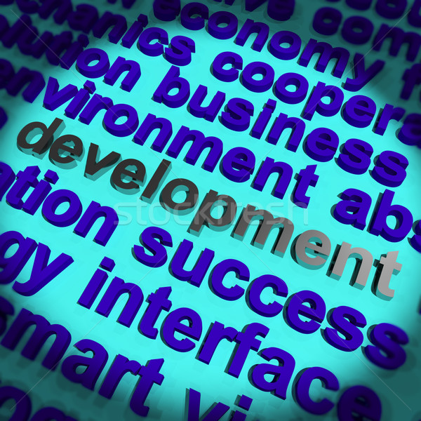 Development Word Showing Improvement Advancement And Growth Stock photo © stuartmiles