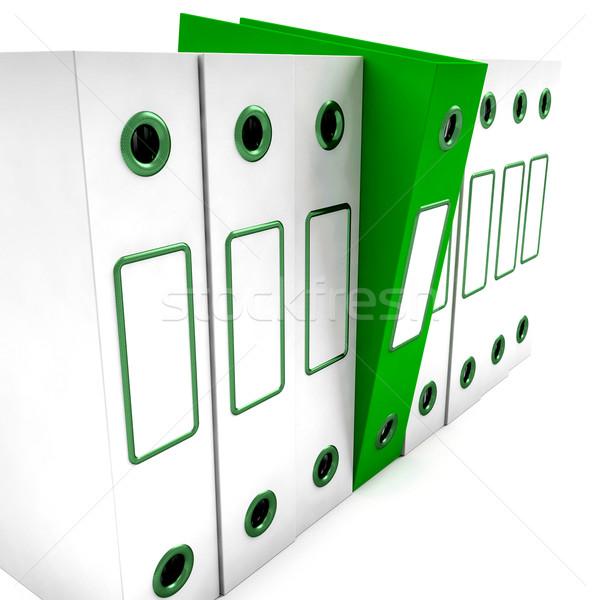 Verde archivo blanco organizado papel carpeta Foto stock © stuartmiles