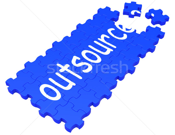Outsource Puzzle Showing Subcontract And Employment Stock photo © stuartmiles