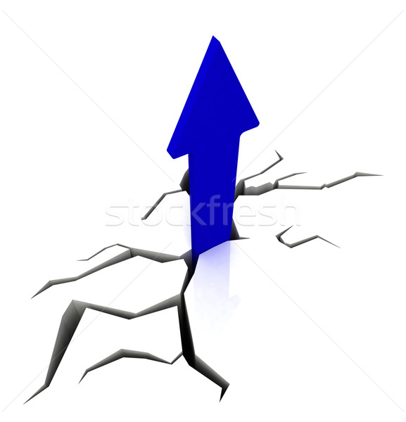 Blue Upward Arrow Shows Breakthrough Stock photo © stuartmiles