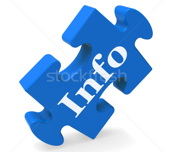 Info Means Information Help Assistance Or Support Stock photo © stuartmiles
