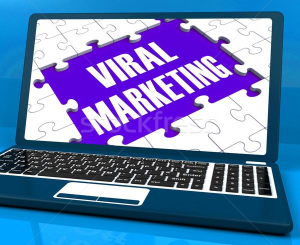Stockfoto: Virale · marketing · laptop · social · media · advertentie · internet