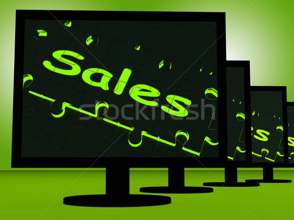 Sales On Monitors Shows Promotions Stock photo © stuartmiles