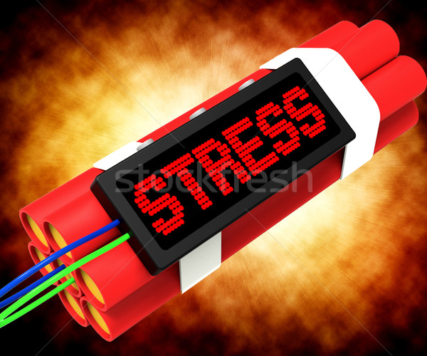 Stress On Dynamite Showing Pressure Of Work Stock photo © stuartmiles