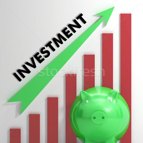 Raising Investment Chart Shows Progression Stock photo © stuartmiles