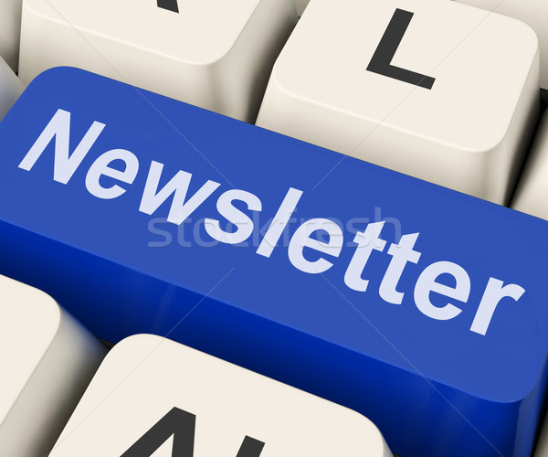 Stock photo: Newsletter Key Shows News Letter Or Online Correspondence