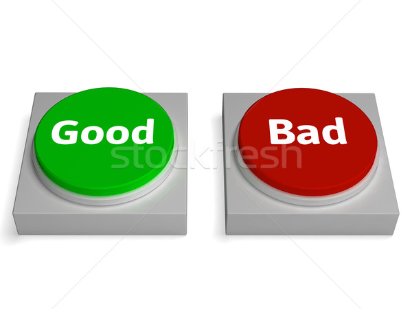 Good Bad Buttons Shows Approved Or Refuse Stock photo © stuartmiles
