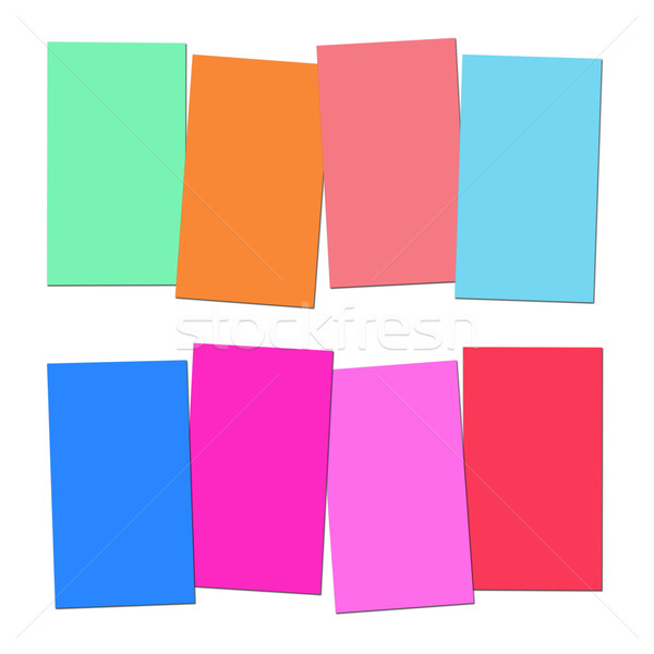 Four Blank Paper Slips Show Copyspace For 4 Letter Words Stock photo © stuartmiles