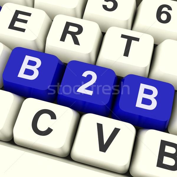 B2b kluczowych handlowy commerce działalności klawiatury Zdjęcia stock © stuartmiles