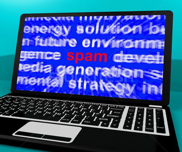 Spam laptop mutat rosszakaratú email internet Stock fotó © stuartmiles