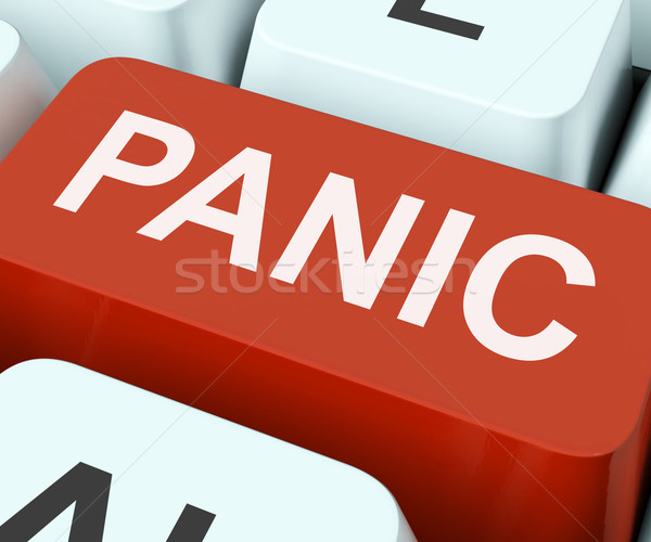 Panic Key Shows Panicky Terror Or Distress Stock photo © stuartmiles