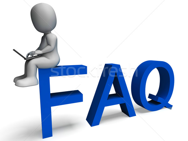 Faq Showing Frequently Asked Questions Stock photo © stuartmiles