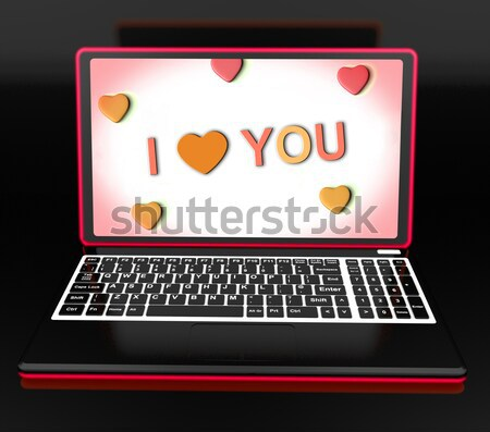 Thank You On Laptop Shows Appreciation Thanks And Gratefulness Stock photo © stuartmiles