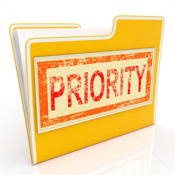 приоритет файла крайний срок торопить немедленный доставки Сток-фото © stuartmiles