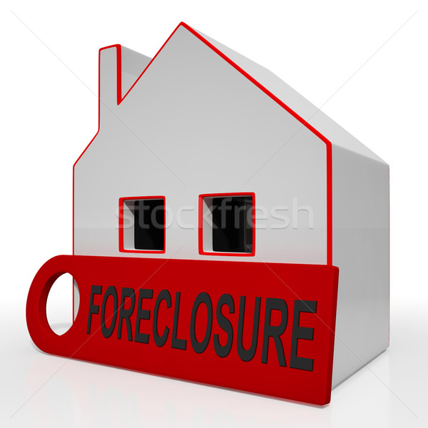 Foreclosure House Shows Repayments Stopped And Repossession By L Stock photo © stuartmiles