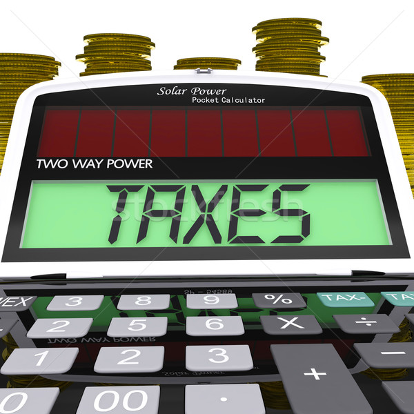 Taxes Calculator Means Taxation Of Income And Earnings Stock photo © stuartmiles