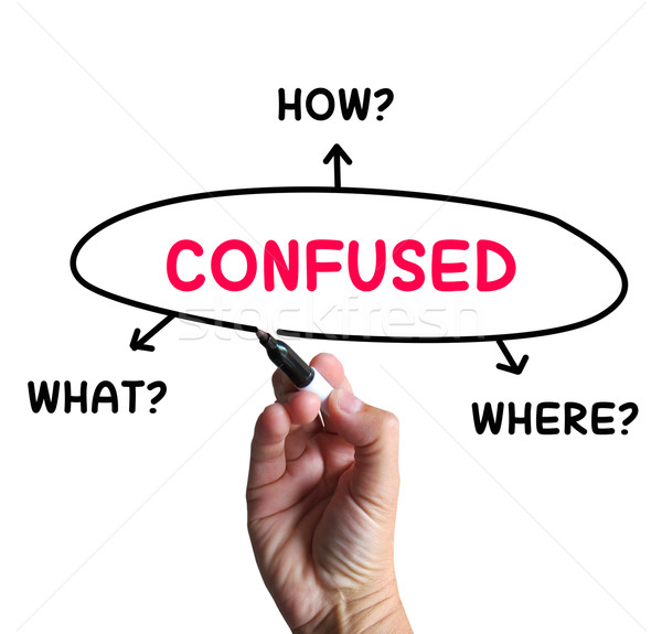 Confused Diagram Means Dont Know And Perplexed Stock photo © stuartmiles