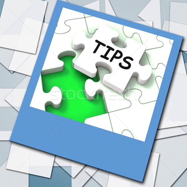 Tips Photo Shows Internet Prompts And Guidance Stock photo © stuartmiles