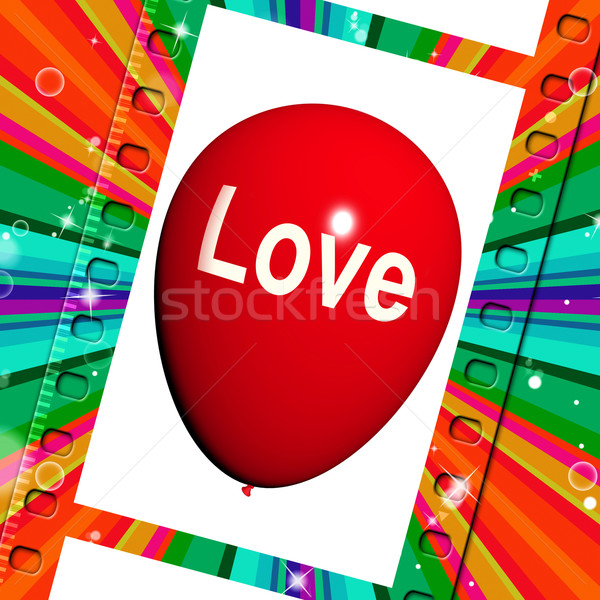 Love Balloon Shows Fondness and Affectionate Feeling Stock photo © stuartmiles