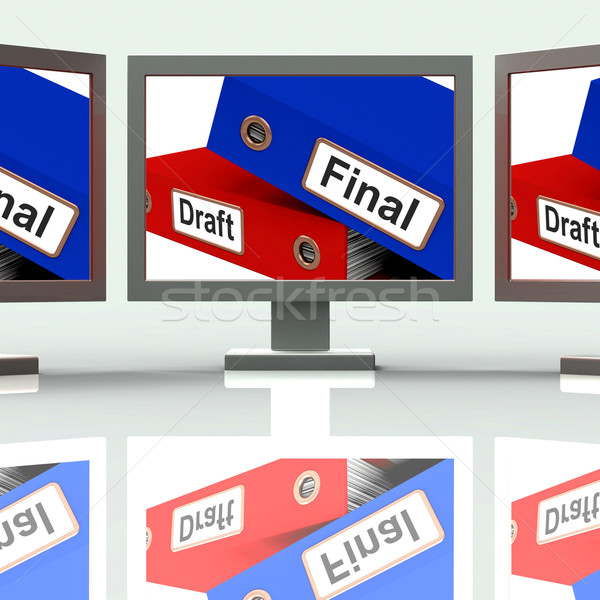 Final Draft Screen Mean Edit And Rewrite Document Stock photo © stuartmiles