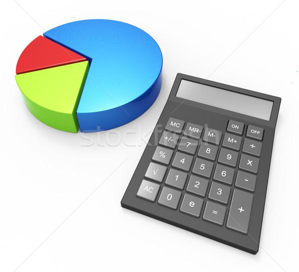 Cálculo gráfico de negócio contabilidade previsão financiar Foto stock © stuartmiles