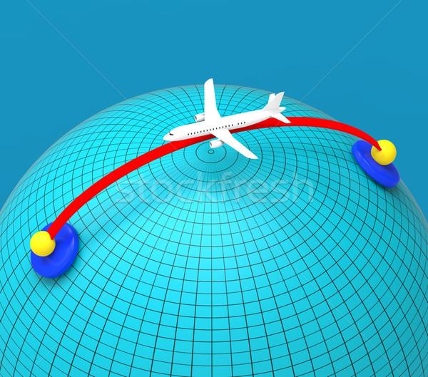Partout dans le monde Voyage vols mondial volée aviation Photo stock © stuartmiles
